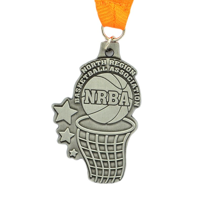 China Manufacture Medal Stainless Steel Custom Basketball Medals