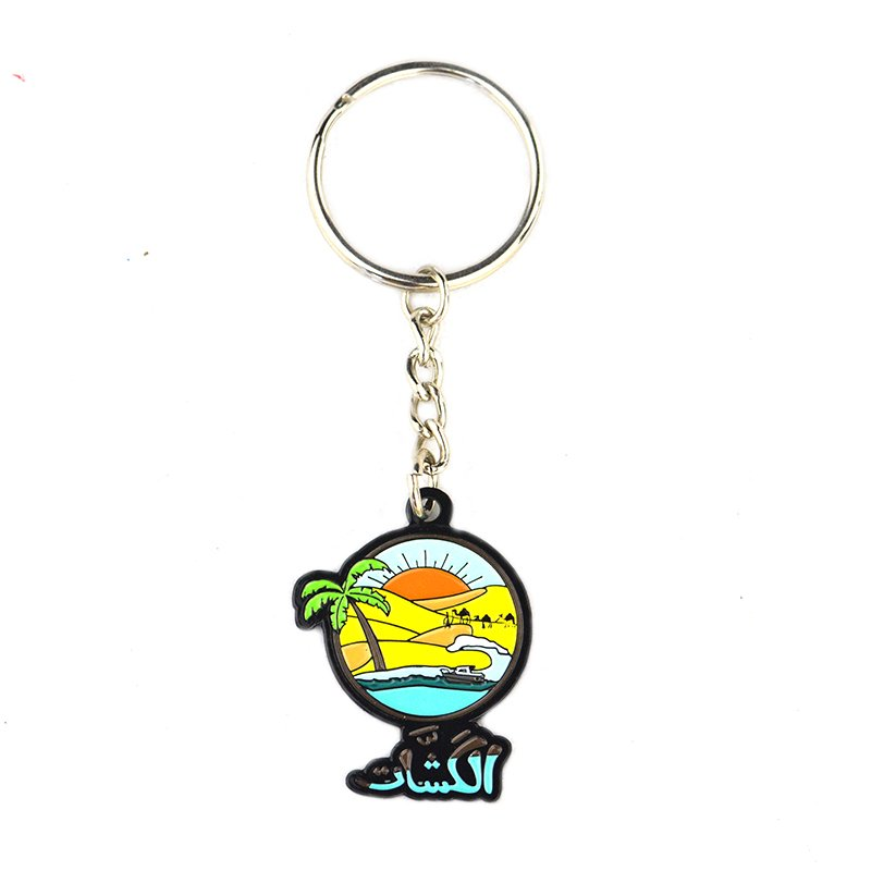 Wholesale Keychain Parts Custom Pvc Key Chain Rubber Keyring