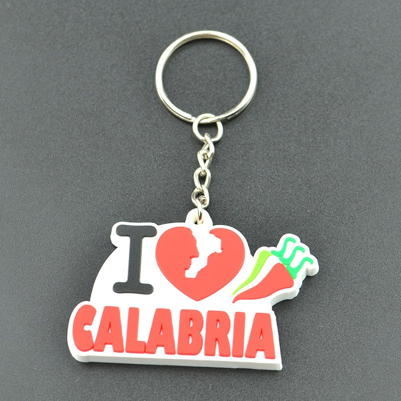 Factory Sale Switzerland Souvenir Keychain Custom Pvc Key Ring
