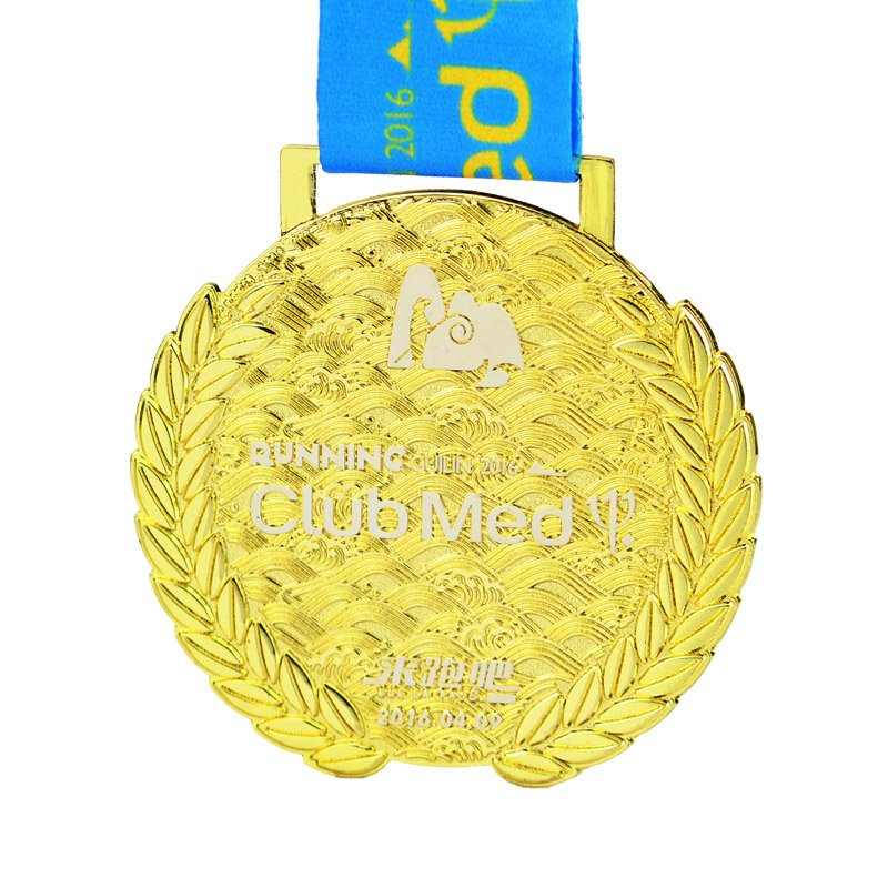 Custom 3D 5K Running Sport Metal Gold 3D Medals With Lanyard