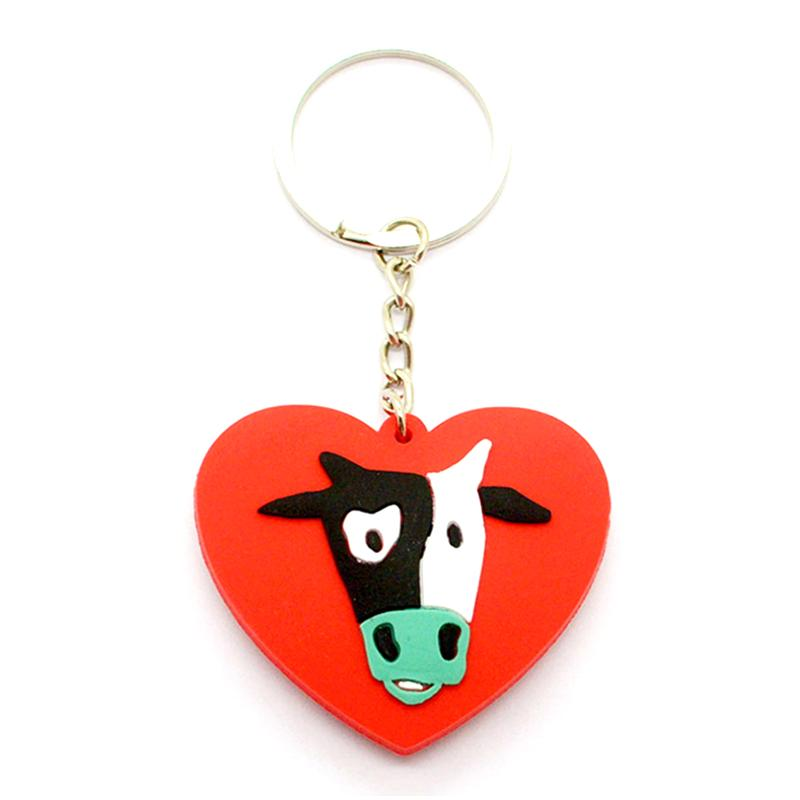 Custom Name Keychain Wholesale Pvc Rubber House Shaped Keyring