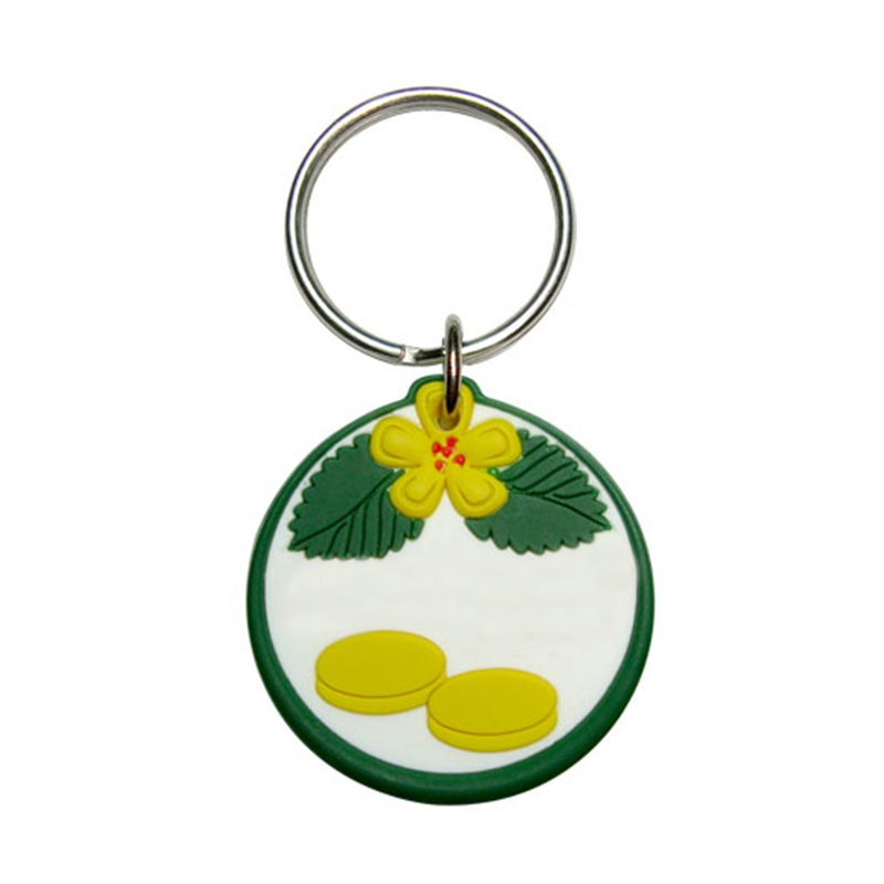 Recycled Keychain Soft Pvc Key Chain Custom Rubber Keyrings