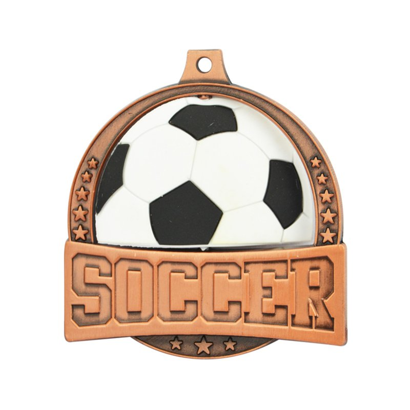 Enamel Medal Football Metal Wholesale Custom Made Medallion