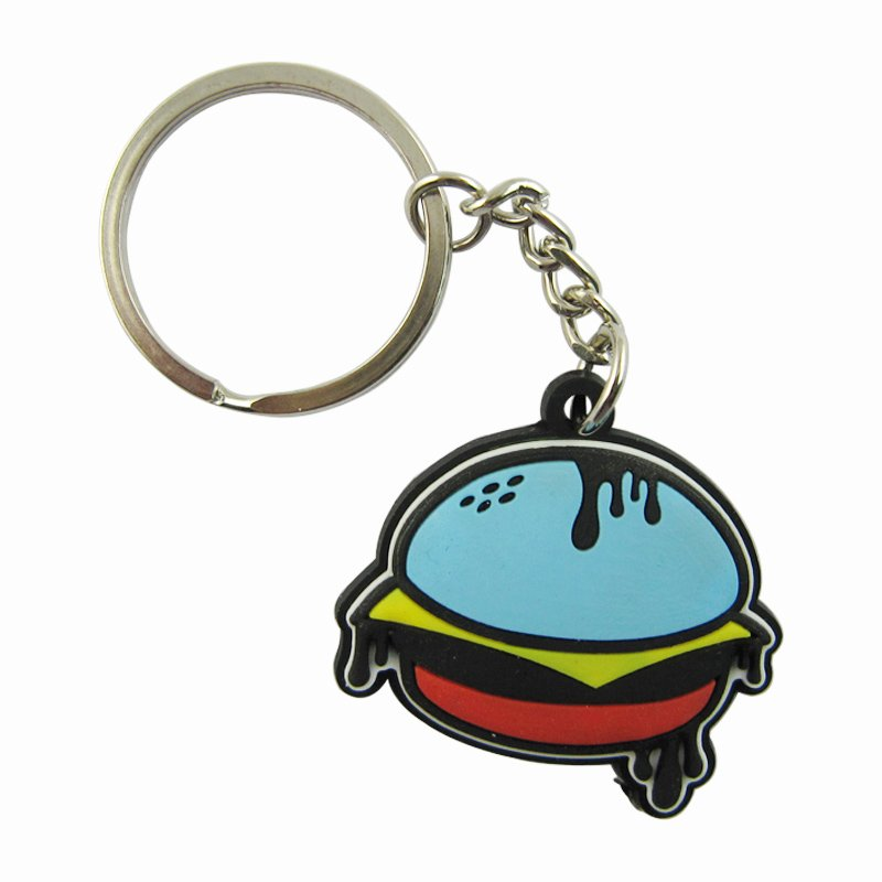 Wholesale Keychain Food Rubber Keyring Custom Pvc Key Chains