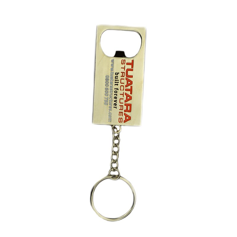 Bottle Cap Opener Keychain Custom Metal Openers Key Chain