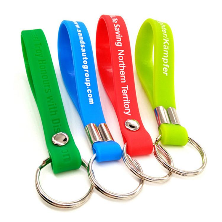 Keychain Bracelet Rubber Custom Silicone Wristband Key Chains
