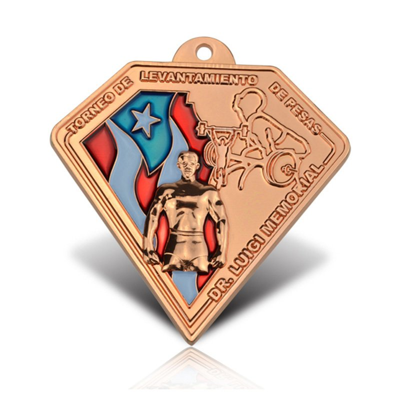 Custom Made Your Triangle Shaped Medals Metal Copper Medal