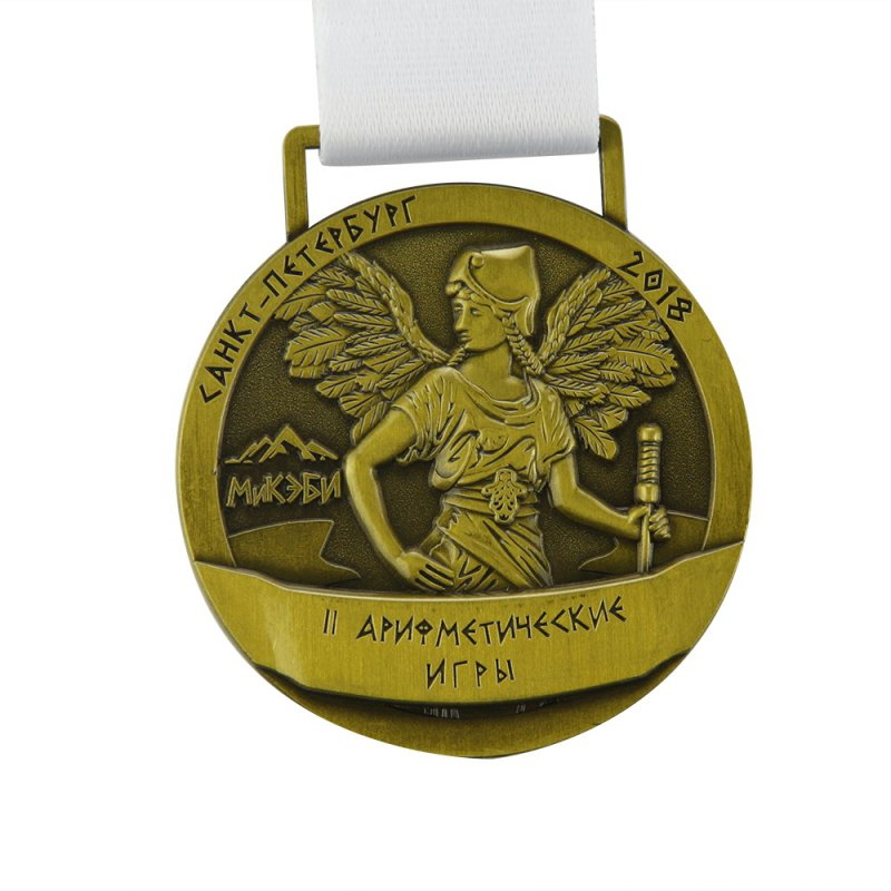 Promotional Medallions Custom Metal 2D Embossed Bronze Medal
