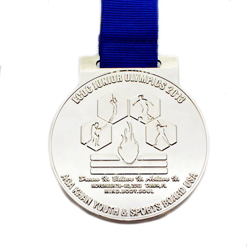 Artigifts Custom Running Medal Bulk Metal Plated Silver Medal