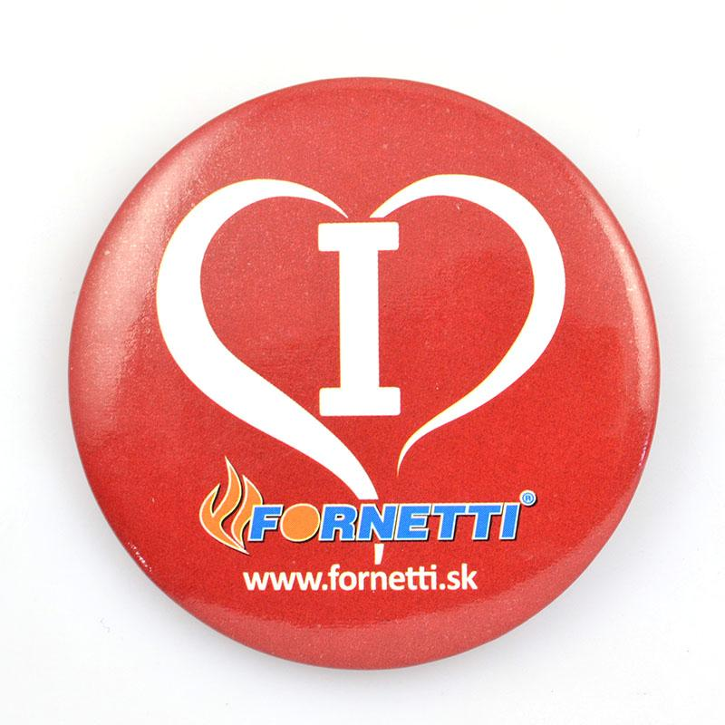 Button Badges Factory Custom Metal Printed Heart Tin Badge Pin