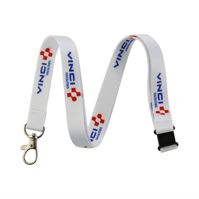 Custom Neck Keychain Heat Transfer Polyester Strap Key Chains