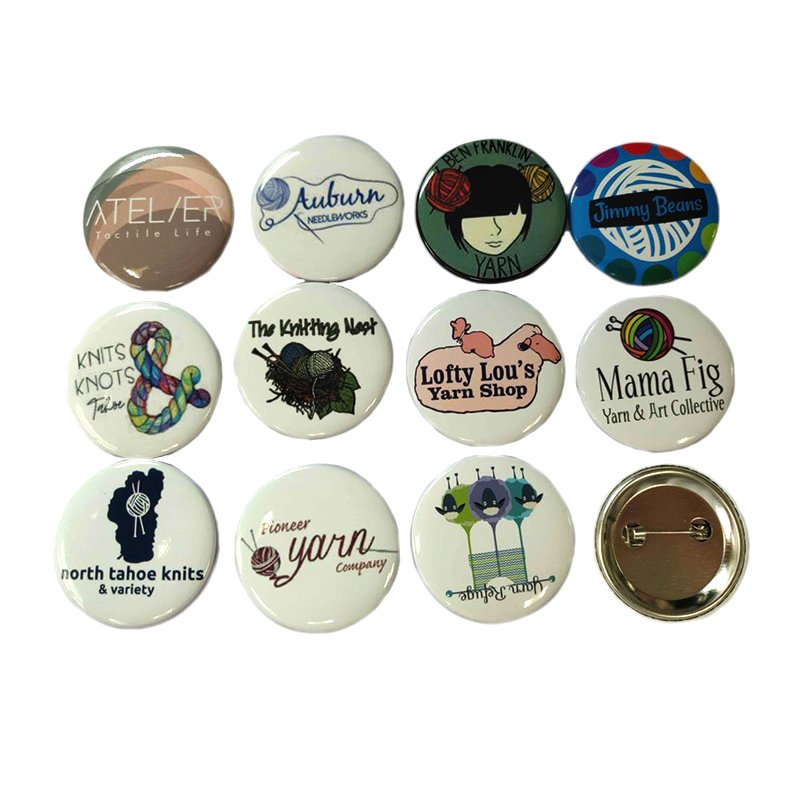 Custom Button Badges Metal Promotional Gifts Bulk Tin Badge