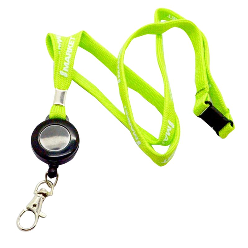 Retractable Key Ring Tube Lanyard Keychain Printed Key Chains