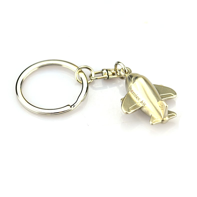 Large Key Rings Ariplane Keychain Custom Metal 3D Plane Key Chain