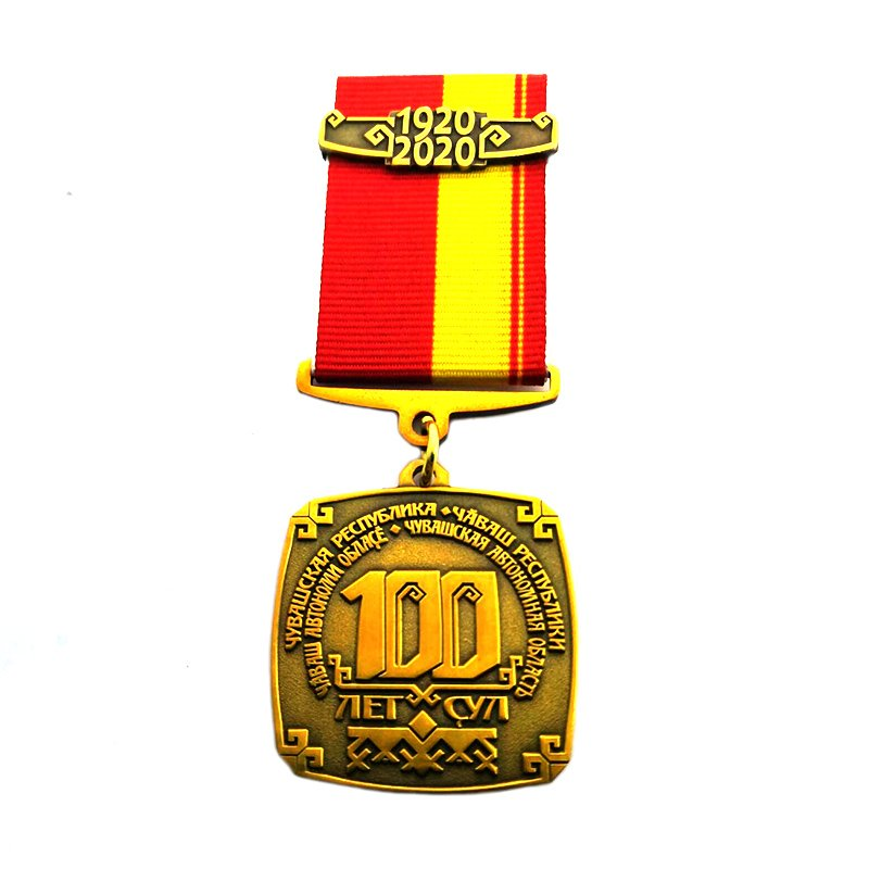 Commendation Medal Metal Gold Custom Army Medallion With Lanyard