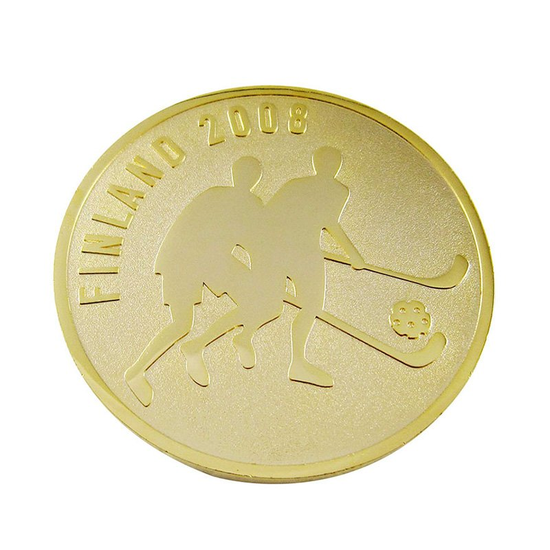 Coin Store Custom Cheap Metal Engraved 2D Gold Challenge Coin