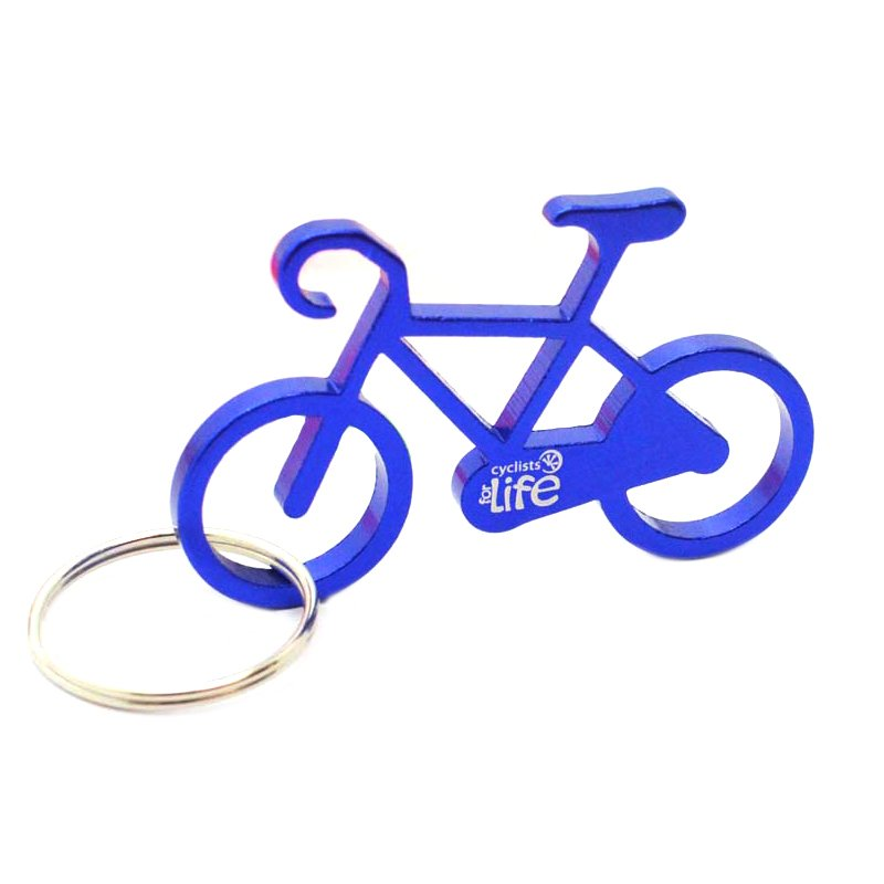 Bike Key Chain Bottle Opener Keychain Custom Aluminum Key Rings