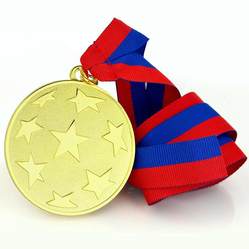 Gold Plated Medallion Custom Made Your Own 2D Metal Medal