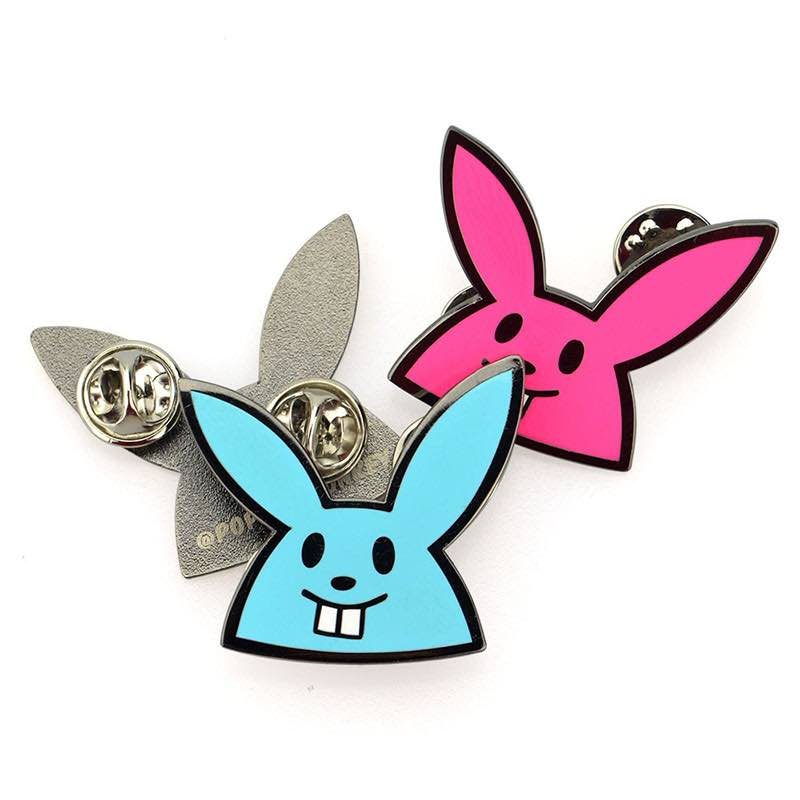 Fashion Unique Bunny Enamel Pin Assorted For Backpacks