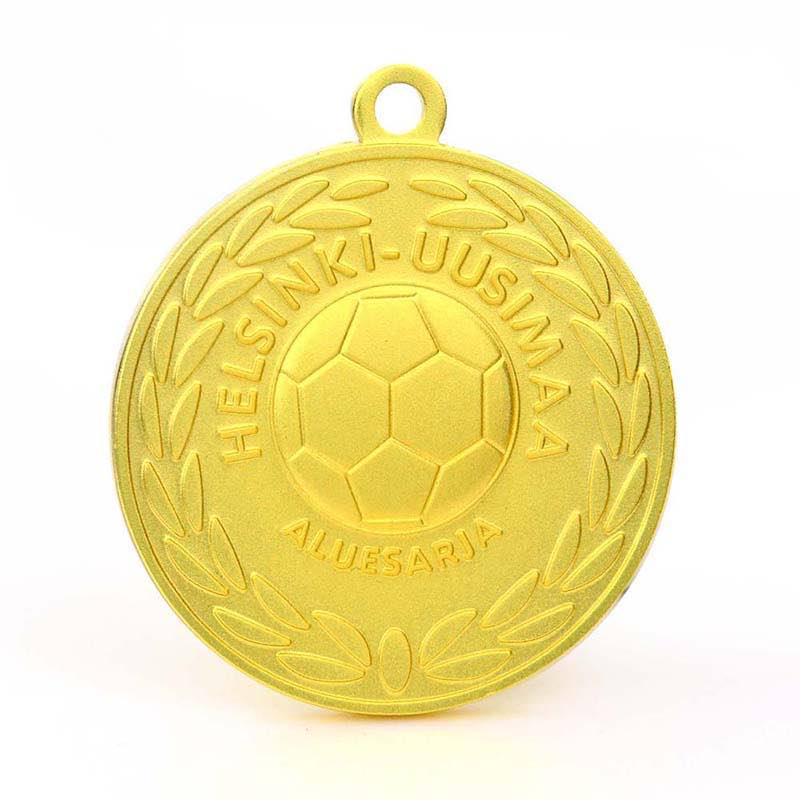Stamped 3D Sports Gold Football Medals And Metal Soccer Trophies